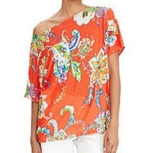 Lauren Ralph Lauren Linen Floral Top